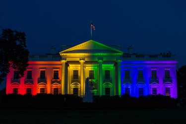 The White House was illuminated in honor of same-sex marriage.