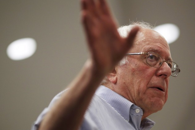 Bernie Sanders at a town hall in Manchester, N.H. on Saturday. (Dominick Reuter/Reuters)