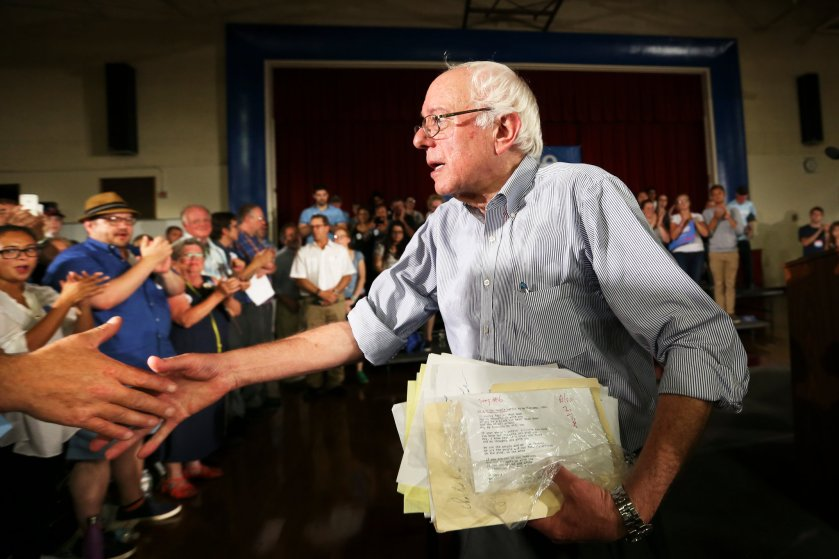 To fund his presidential campaign, Senator Bernie Sanders has relied on tens of thousands of donors whose average gift is $31.30. Credit Cheryl Senter/Associated Press