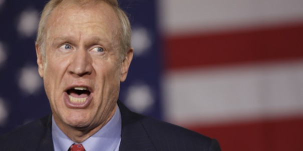 Gubernatorial Candidate Bruce Rauner Attends Election Night Gathering In Chicago
