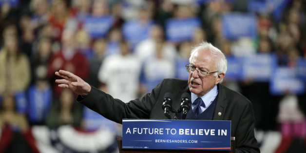 Democratic presidential candidate Sen. Bernie Sanders, I-Vt., speaks at a rally Friday, March 25, 2016, in Seattle. (AP Photo/Elaine Thompson)